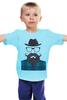 """Детская футболка """"Мой мачо..."""" - идеал, мужчина, борода, мачо, усы"""