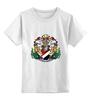 """Детская футболка классическая унисекс """"Sealand White"""" - белая, герб, sealand, силэнд"""