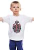 """Детская футболка классическая унисекс """"Полинезийский орел"""" - узор, черный, орел, индейцы, полинезия"""