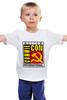 """Детская футболка классическая унисекс """"Moscow Commie Con"""" - ссср, пародия, коммунизм, серп и молот, comic con"""