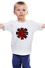 """Детская футболка классическая унисекс """"rhcp!"""" - rock, red hot chili peppers, альтернативный рок, funk, красные острые перцы чили, rhcp"""