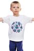 """Детская футболка классическая унисекс """"Зимняя мозаика"""" - новый год, подарок, сова, подарки, снежинки, new year, елка, снегирь"""