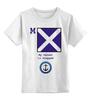 "Детская футболка классическая унисекс ""Mike (M),флаг МСС (eng)"" - море, флаг, яхтинг, мсс, boatstyle"