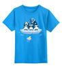"""Детская футболка классическая унисекс """"Миньоны Пингвины"""" - банана, гадкий я, миньоны, пингвины"""