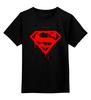 """Детская футболка классическая унисекс """"ФитПит.рф - Спортивное питание"""" - спорт, superman, фитнес, кросфит"""