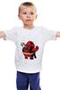 """Детская футболка классическая унисекс """"Fat Deadpool"""" - deadpool, дедпул, обжорство"""