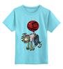 """Детская футболка классическая унисекс """"зомби plant"""" - zombie, зомби, game, plants vs zombie, plants of zombies, растения против зомби"""