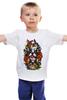"""Детская футболка классическая унисекс """"бульдоги"""" - dog, роза, roses, бульдог, bulldogs"""