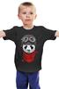 """Детская футболка классическая унисекс """"Панда (Panda)"""" - панда, panda, пилот"""