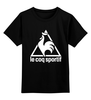 "Детская футболка классическая унисекс ""le coq sportif t-shirt"" - спорт, le coq sportif, ле кок спортив"