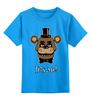 """Детская футболка классическая унисекс """"Fazbear (Пять ночей у Фредди)"""" - пять ночей у фредди, five nights at freddy's"""