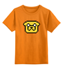 """Детская футболка классическая унисекс """"Jack Time"""" - adventure time, время приключений, пиксельная графика, finn & jake"""