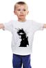 """Детская футболка классическая унисекс """"Girl Black&White"""" - девушка"""