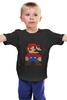 """Детская футболка """"Таблица Супер Марио"""" - игры, nintendo, химия, 8 бит, super mario, супер марио, таблица менделеева"""