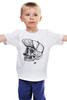 """Детская футболка классическая унисекс """"DEAD HIPSTER"""" - череп, крест, рисунок, face, хипстер"""