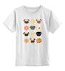 """Детская футболка классическая унисекс """"Собачки и печеньки"""" - пончик, бульдог, печенье, эклер"""