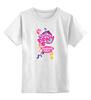 "Детская футболка классическая унисекс ""My Little Pony: Friendship is Magic Logo"" - rainbow dash, my little pony, applejack, rarity, friendship is magic, fluttershy, twilight sparkle, pinkie pie"