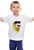 "Детская футболка классическая унисекс ""Банановый бородач"" - хипстер, борода, banana, beard, hipster, банан"