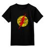 """Детская футболка классическая унисекс """"Flash (Молния)"""" - flash, молния, хохлома, флэш"""