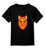 """Детская футболка классическая унисекс """"Лисица"""" - арт, лиса, лисица, хохлома, зеленые глаза"""