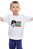 "Детская футболка классическая унисекс ""RUN EMC"" - рэп, физика, эйнштейн, run dmc, альберт эйнштейн"