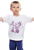 """Детская футболка """"Хипстер олень """" - арт, стиль, олень, хипстер, deer"""