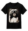 """Детская футболка классическая унисекс """"Путин """" - bear, putin, владимир путин, самый выжливый"""