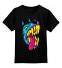 """Детская футболка классическая унисекс """"Радиоактивный пес"""" - футболки с собаками, креативные футболки с собакой купить, разноцветные собаки"""
