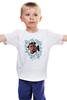 """Детская футболка классическая унисекс """"Путин в цветах"""" - путин, президент, putin, владимир владимирович путин"""