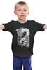 """Детская футболка классическая унисекс """"Art Horror"""" - skull, череп, ворон, тьма, black crow"""