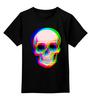 """Детская футболка классическая унисекс """"Череп 3D"""" - skull, абстракция, череп, 3d"""