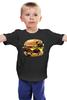 """Детская футболка классическая унисекс """"Мопс Бургер"""" - еда, pug, собака, мопс, бургер"""