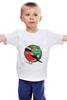 """Детская футболка """"Снегирь. С Новым Годом!"""" - happy new year, новый год, птица, рождество, снежинки, с новым годом, дед мороз, клюв, новогодние, нг"""