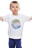 """Детская футболка классическая унисекс """"кит"""" - акварель, кит"""