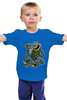 """Детская футболка классическая унисекс """"Ganksta MAFIA"""" - череп, царь, king, skeleton, корона, король, mafia, мафия, алмаз, кастет"""