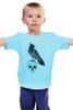 """Детская футболка классическая унисекс """"Гамлет"""" - череп, ворон"""