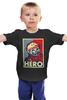 """Детская футболка классическая унисекс """"Гагарин"""" - гагарин, герой, hero, космонавт, yuri gagarin"""