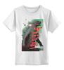 """Детская футболка классическая унисекс """"Godzilla """" - кино, иероглифы, годзилла, godzilla, kinoart"""