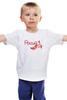 """Детская футболка классическая унисекс """"Россия(Хохлома)"""" - птица, творчество, роспись, народное, ремесло"""