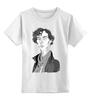 """Детская футболка классическая унисекс """"Шерлок Холмс (Sherlock Holmes)"""" - сериал, sherlock, шерлок, шерлок холмс"""