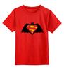 "Детская футболка классическая унисекс ""Бэтмен против Супермена"" - супермен, batman, superman, бэтман"
