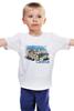 """Детская футболка классическая унисекс """"Calella"""" - рисунок, город, иллюстрация, скетч, испания"""