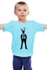 """Детская футболка классическая унисекс """"Олень """" - арт, олень, deer, suit, antlers"""