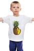 """Детская футболка классическая унисекс """"ананас"""" - ананас, фрукт, pineapple"""