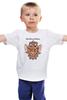"""Детская футболка """"Сова-символ мудрости."""" - сова, owl, dictum, dictum factum"""
