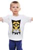 """Детская футболка классическая унисекс """"Миньон Рассомаха"""" - x-men, миньон, гадкий я, despicable me, wolverine, minion, рассомаха, superheroes, parody, mashup"""