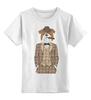 """Детская футболка классическая унисекс """"Уважаемый пес"""" - dog, пес, костюм, suit, сигара, cigar"""