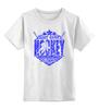 """Детская футболка классическая унисекс """"ХОККЕЙ!!!"""" - лёд, звёзды, хоккеист, клюшки, шайба"""