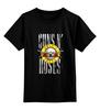 """Детская футболка классическая унисекс """"Guns'n'Roses t-shirt"""" - рок, guns n roses, axl rose, ганз н розес, аксель роуз"""