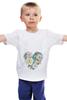 """Детская футболка классическая унисекс """"сердце"""" - сердце, heart, цветы, rose, акварель"""